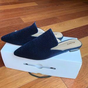 Aldo Navy Slip-On Mules